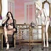 Lesbos temptation hot mature.