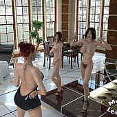 Threesome hot passionate lesbian.