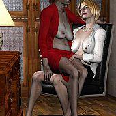 Vehement aged lesbo licking.