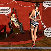 Dominatrix maid lezdom comics.