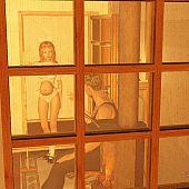 Preggo hussy working chambermaid.