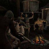 Adventuress captured gang orcs.