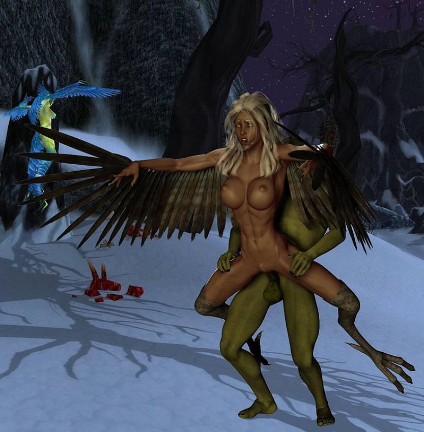 нимфы порно демонами гарпии