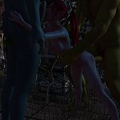 Monsters fuck hot 3D elfs.