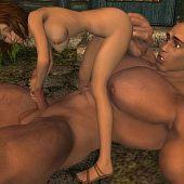 Romance forest giant girl.