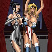 Lezdom porn super heroines.