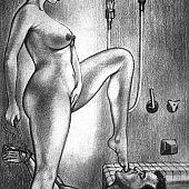 Slavery and thrashing hentai facesittin art girls.