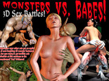 Monsters vs. Babes! 3D Sex Battles!