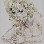Drawn slut huge cock.